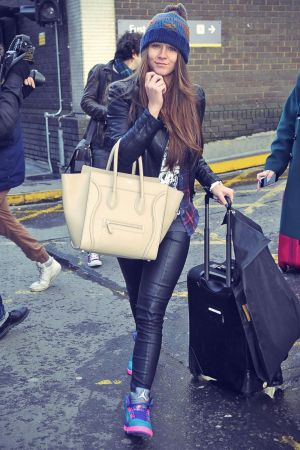 Brooke Vincent arriving in London