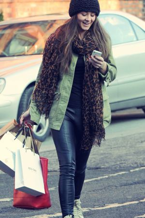 Brooke Vincent out and about in Manchester