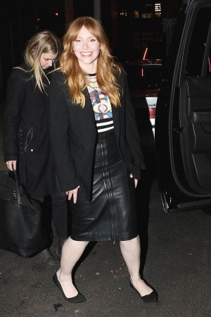 Bryce Dallas Howard outside the CBS studios before her appearance