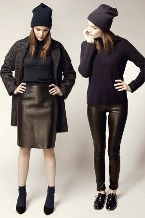 Camille Lou photoshoot in leather for Tara Jarmon