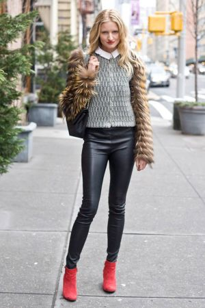 Candice Lake leather pants