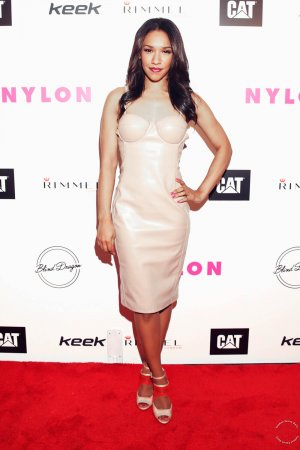 Candice Patton attends NYLON Magazine's Spring Fashion Issue Celebration