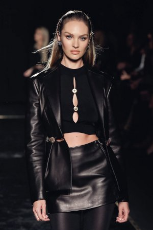 Candice Swanepoel attends Versace Pre-Fall 2019