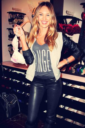 Candice Swanepoel attends Victoria's Secret Angels Celebrate