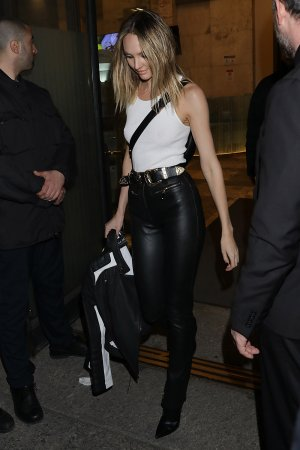 Candice Swanepoel seen leaving Versace Fall