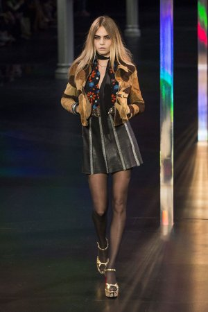 Cara Delevigne runway during Paris Fashion Week