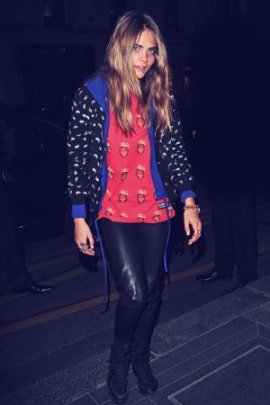 Cara Delevingne at the Le Bristol Hotel