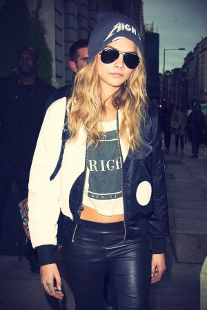 Cara Delevingne out and about in London during London Fashion Week