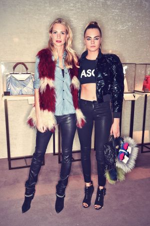 Cara & Poppy Delevingne attends Fendi and Elle Toast Coveteur Feature