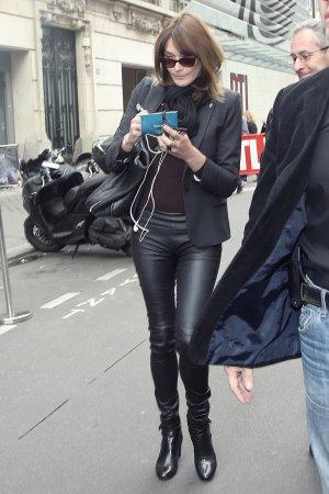 Carla Bruni at RTL in Paris