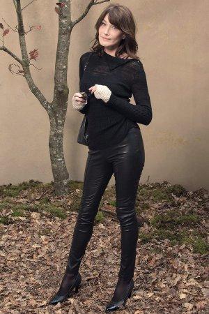 Carla Bruni Sarkozy attends Chanel show