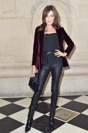 Carla Bruni-Sarkozy attends the Christian Dior show