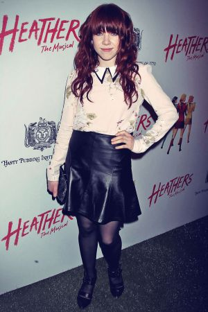 Carly Rae Jepsen attends the off-Broadway opening night of Heathers The Musical