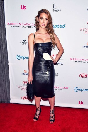 Carmen Carrera attends the Kristin Cavallari By Chinese Laundry presentation