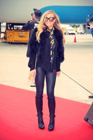 Carmen Electra arriving in Vienna