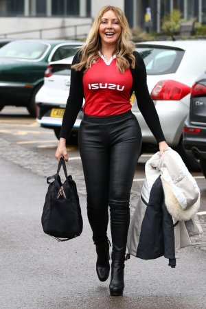 Carol Vorderman at Saturday morning radio show