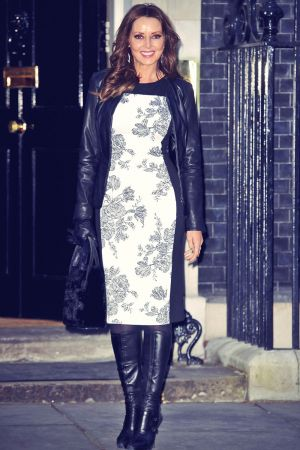 Carol Vorderman downing Street reception