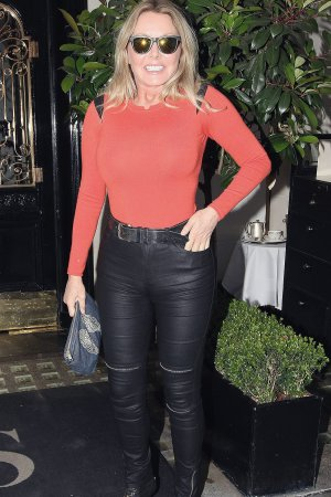 Carol Vorderman seen at Scott's Restaurant