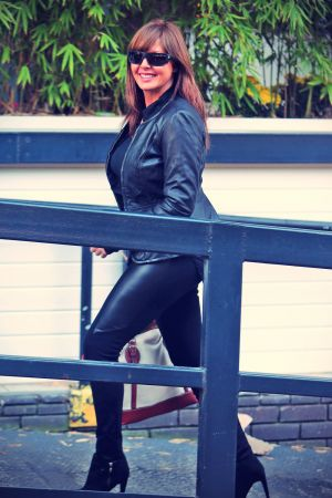 Carol Vorderman was seen at the London studios