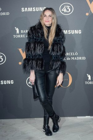 Carola Baleztena attends the Roberto Verino show