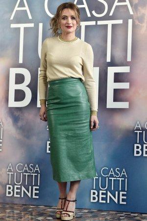 Carolina Crescentini attends A Casa Tutti Bene photocall