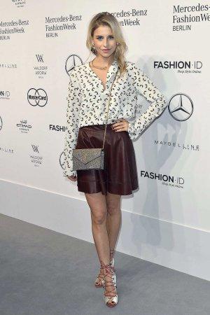 Caroline Daur attends Mercedes-Benz Fashion Week Berlin