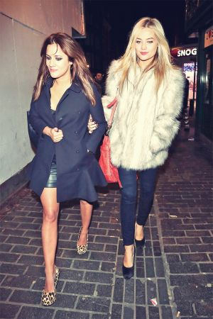 Caroline Flack and Laura Whitmore at the box Night Club