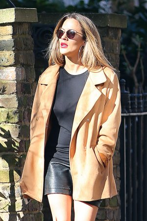 Caroline Flack out & about in London