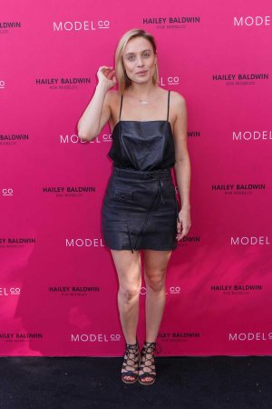 Casey Burgess attends VIP launch of the Hailey Baldwin