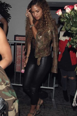 Cassie Ventura leaving the Warwick Nightclub