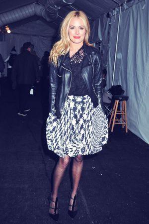 Cat Deeley attends Monique Lhuillier fashion show