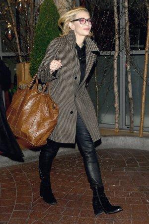 Cate Blanchett seen leaving the SOHO Hotel