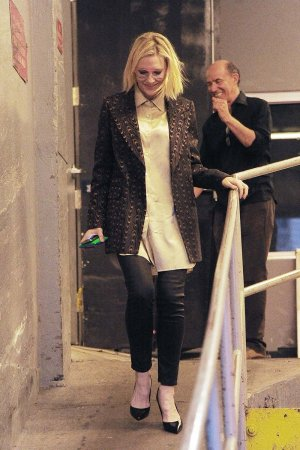 Cate Blanchett seen out in Tribeca