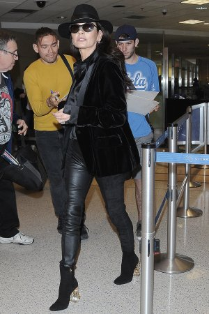 Catherine Zeta Jones at LAX