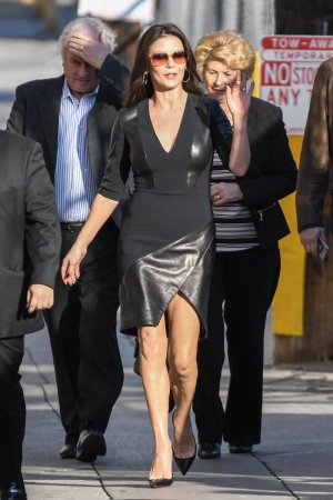 Catherine Zeta-Jones is seen at Kimmel