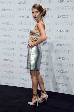Cathy Hummels at Marc Cain Fashion Show Mercedes-Benz Fashion Week