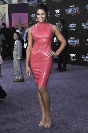 Cerina Vincent attends the premiere of Marvel's Guardians Of The Galaxy