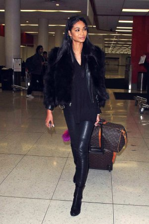 Chanel Iman at Los Angeles International Airport