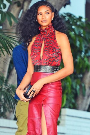 Chanel Iman attends CFDA/Vogue Fashion Fund Show and Tea