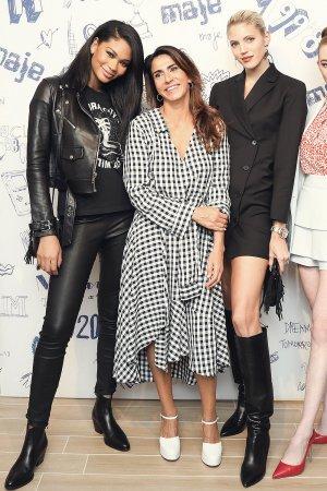 Chanel Iman attends Maje Rockefeller Center launch
