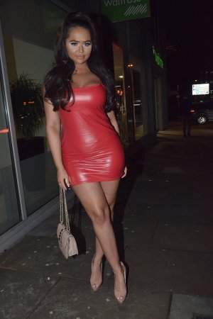 Chanelle McCleary and Jsky arrive at Manchester House Bar And Restaurant