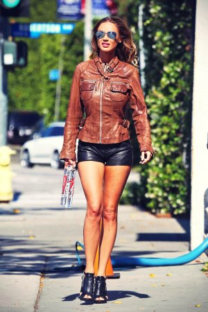 Charlie Riina is spotted during a photo shoot for 138 Water