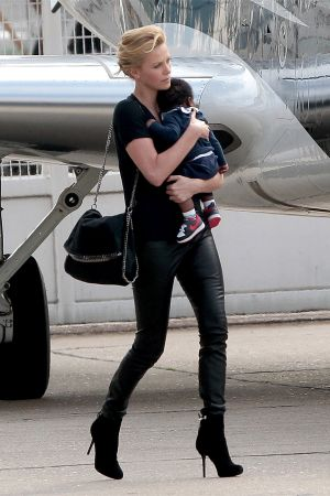Charlize Theron at Le Bourget Airport