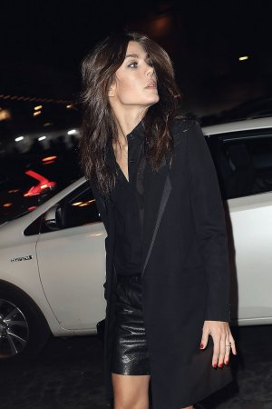 Charlotte Casiraghi attends Saint Laurent show