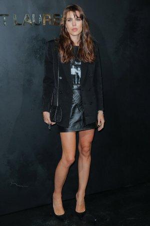 Charlotte Casiraghi attends Saint Laurent show