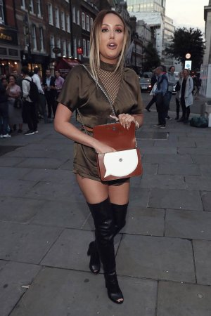 Charlotte Crosby seen at the Freemason's Hall during London Fashion week