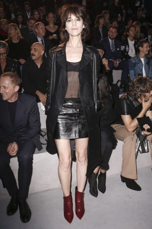 Charlotte Gainsbourg at the Laurent S/S18 fashion show