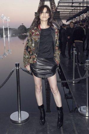 Charlotte Gainsbourg attends Saint Laurent show