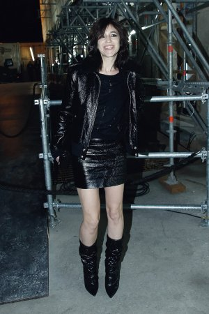 Charlotte Gainsbourg attends the Saint Laurent show