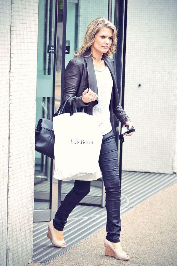 Charlotte Hawkins at ITV Studios London - Leather Celebrities Cheryl Cole Instagram